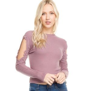 Tops - Laced in Love Crop Top
